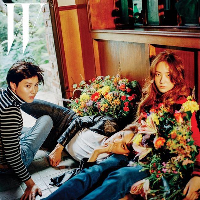 KAI、Krystal、泰民 @ W Korea