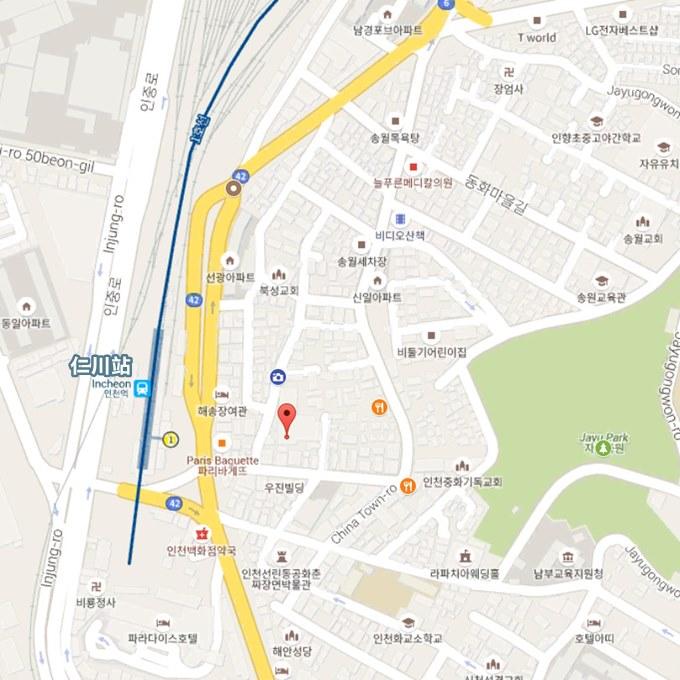 仁川中國城地圖
